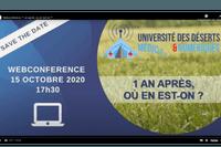 """REPLAY - Webconférence Université des déserts médicaux et numériques """"1 an après, où en est-on ?"""""""
