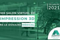 26/01 : Salon virtuel dédié à l'impression 3D dans le domaine médical