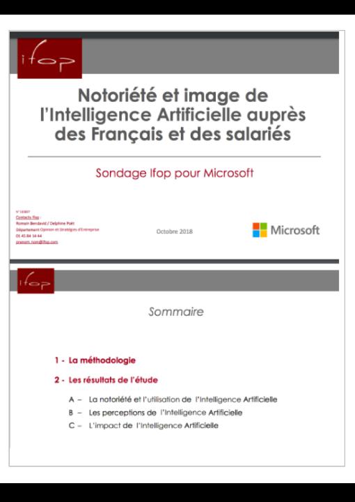 1er Observatoire de la Notoriété et de l'Image de l'Intelligence Artificielle en France
