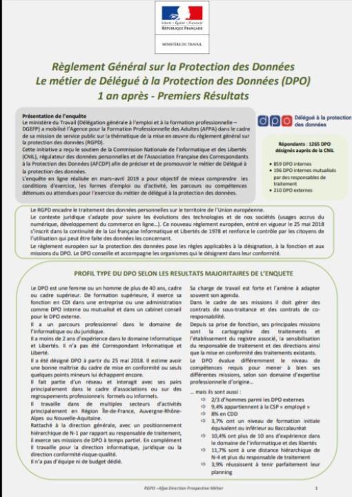 Règlement général sur la protection des données (RGPD), un an après