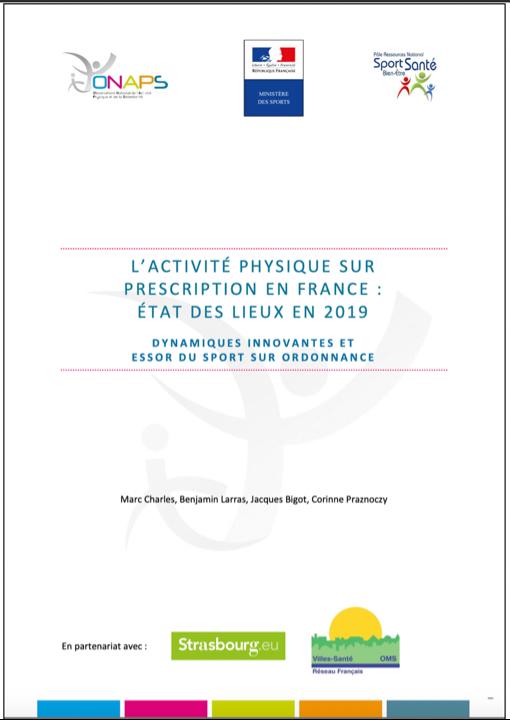 L'activité physique sur prescription en France : état des lieux en 2019