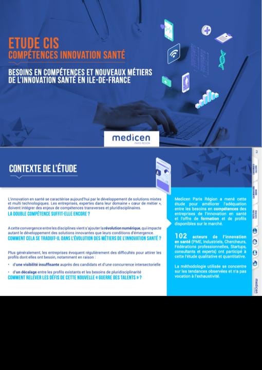 Medicen Paris Region publie une étude sur l'évolution des compétences et des métiers de la santé