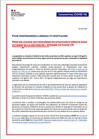 Prise en charge des personnes en situation d'obésité dans le cadre de la gestion de l'épidémie COVID-19