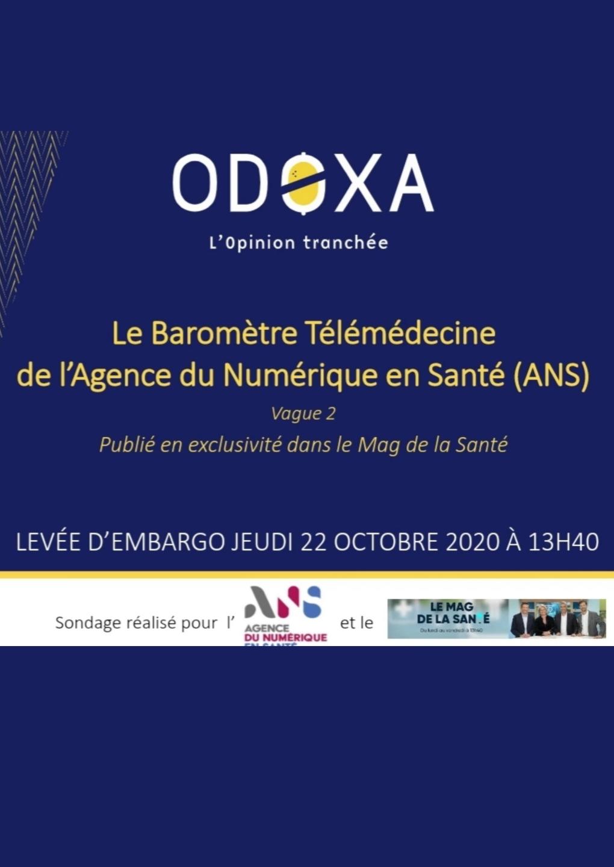 Le Baromètre Télémédecine   de l'Agence du Numérique en Santé (ANS)