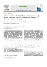 A patient reported outcome platform, a useful tool to improve monitoring and effective management of Covid- 19epositive patients with cancer