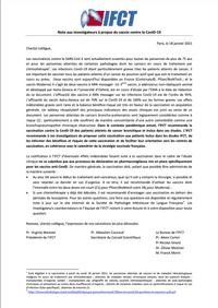 Note aux investigateurs à propos du vaccin contre la CoviD-19