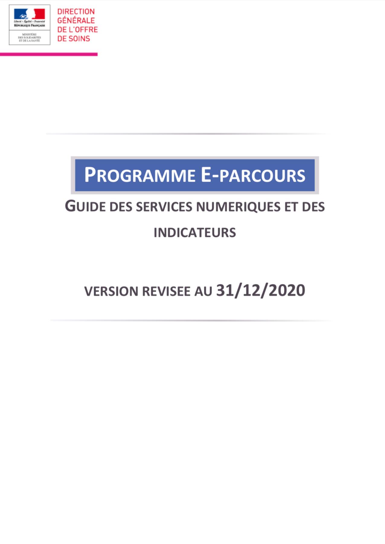 Programme E-Parcours : Guide des services numériques et des indicateurs