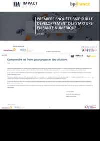 Première Enquête 360° sur le développement des startups en santé numérique