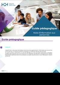 Guide pédagogique Note d'information aux personnes