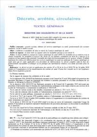 Décret n° 2021-1048 du 4 août 2021 relatif à la mise en œuvre de l'espace numérique de santé