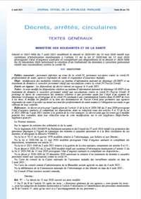 Décret n° 2021-1058 du 7 août 2021 modifiant le décret n° 2020-551 du 12 mai 2020 relatif aux systèmes d'information mentionnés à l'article 11 de la loi n° 2020-546 du 11 mai 2020 prorogeant l'état d'urgence sanitaire et complétant ses dispositions et le décret n° 2020-1690 du 25 décembre 2020 autorisant la création d'un traitement de données à caractère personnel relatif aux vaccinations contre la covid-19