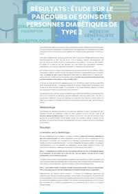 Résultats : étude sur le parcours de soins des personnes diabétiques de type 2